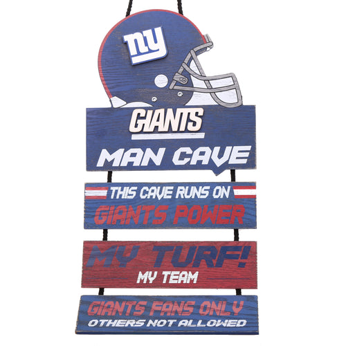 New York Giants NFL Football Wooden Man Cave Sign - Dynasty Sports & Framing