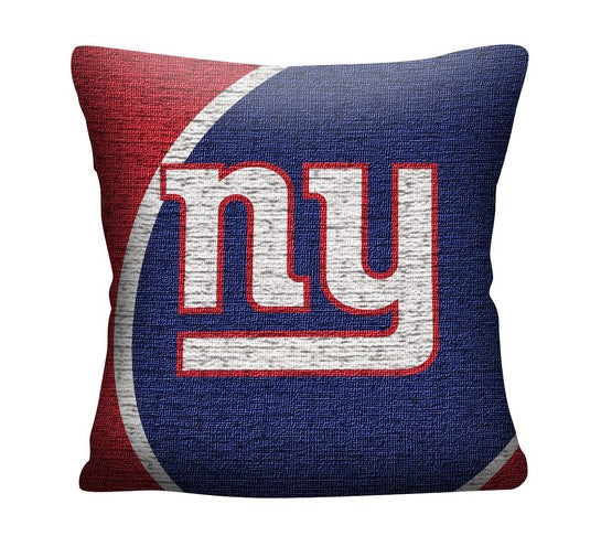 "New York Giants 20"" Jacquard Football Pillow - Dynasty Sports & Framing"