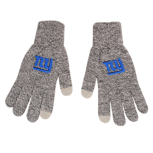 New York Giants Gray Knit Texting Gloves - Dynasty Sports & Framing