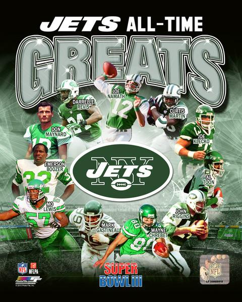 "New York Jets All-Time Greats NFL Football 8"" x 10"" Photo"