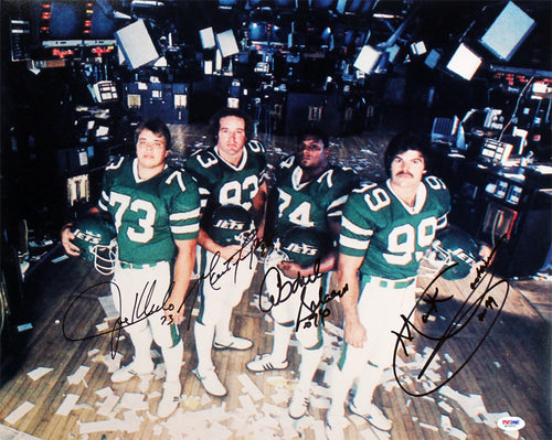 "New York Sack Exchange New York Jets Autographed NFL Football 16"" x 20"" Photo"