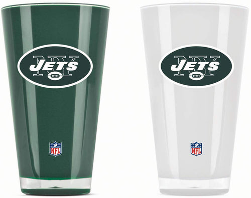 New York Jets NFL Football 2-Pack Tumbler Cup Set