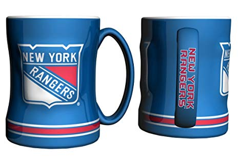 New York Rangers NHL Hockey Logo Relief 14 oz. Mug