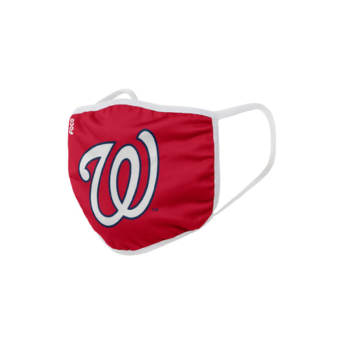 Washington Nationals Solid Big Logo Face Cover Mask - Dynasty Sports & Framing