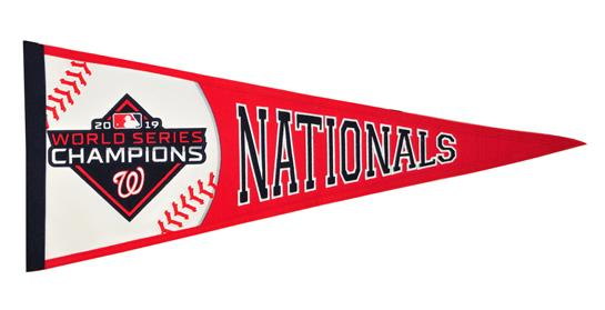 Washington Nationals 2019 World Series Championship Pennant