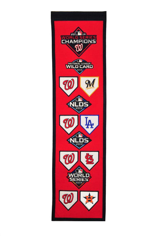 Washington Nationals 2019 Road to the World Series Championship Heritage Banner - Dynasty Sports & Framing