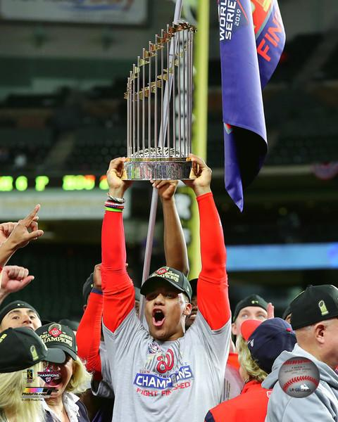 "Juan Soto Washington Nationals 2019 World Series Champions Trophy 8"" x 10"" Baseball Photo - Dynasty Sports & Framing"