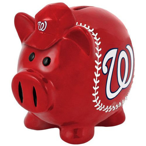 Washington Nationals Large Resin Thematic Piggy Bank - Dynasty Sports & Framing