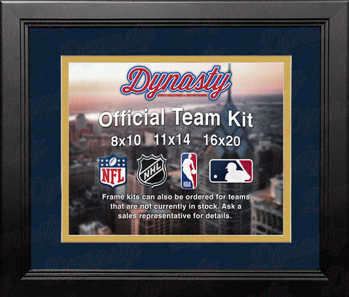 NHL Hockey Photo Picture Frame Kit - Florida Panthers (Navy Matting, Yellow Trim) - Dynasty Sports & Framing