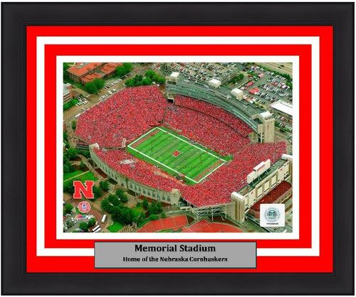 "Nebraska Cornhuskers Memorial Stadium NCAA College Football 8"" x 10"" Framed and Matted Photo"