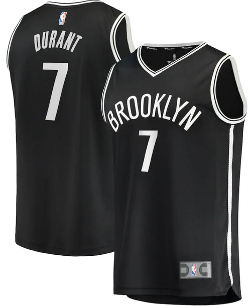 Kevin Durant Brooklyn Nets 2019/20 Fast Break Replica Jersey Black - Icon Edition
