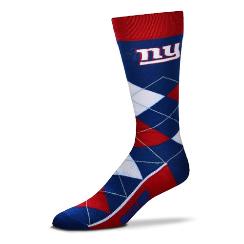New York Giants Men's NFL Football Argyle Lineup Socks - Dynasty Sports & Framing