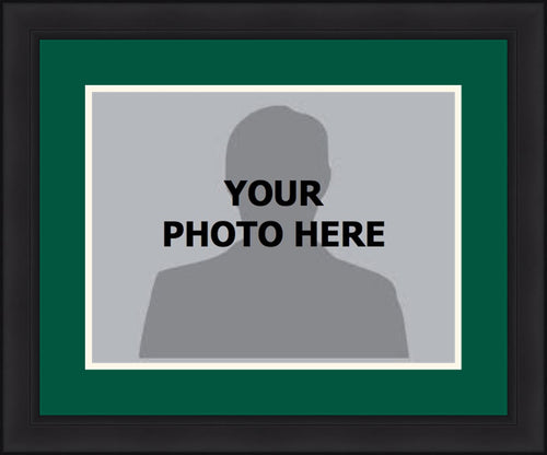 MLB Baseball Photo Picture Frame Kit - Oakland Athletics (Green Matting, White Trim) - Dynasty Sports & Framing