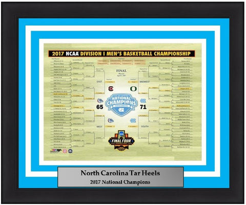 "North Carolina Tar Heels 2017 National Champions Bracket 8"" x 10"" Framed and Matted Photo"