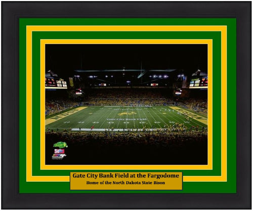 "North Dakota State Bison Fargodome NCAA College Football Stadium 8"" x 10"" Framed and Matted Photo"