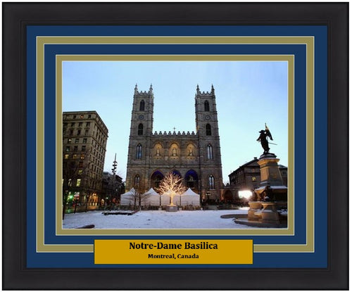 "Notre-Dame Basilica in Montreal 8"" x 10"" Framed and Matted Landmark Photo"