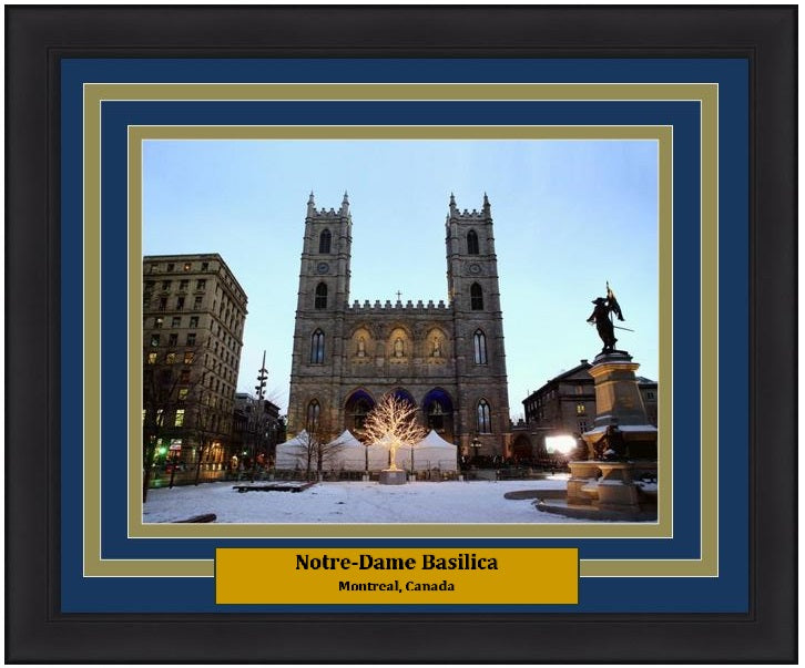 "Notre-Dame Basilica in Montreal 8"" x 10"" Framed and Matted Landmark Photo - Dynasty Sports & Framing"