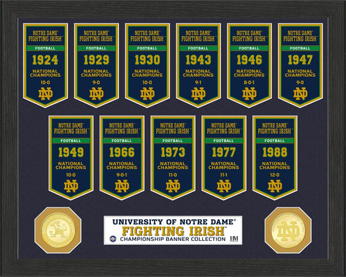 Notre Dame Fighting Irish National Championship Banner Framed Collage