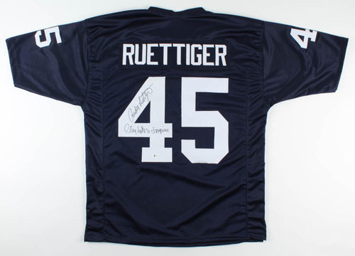 Rudy Ruettiger Notre Dame Fighting Irish Autographed Jersey Inscribed Play Like a Champion - Dynasty Sports & Framing