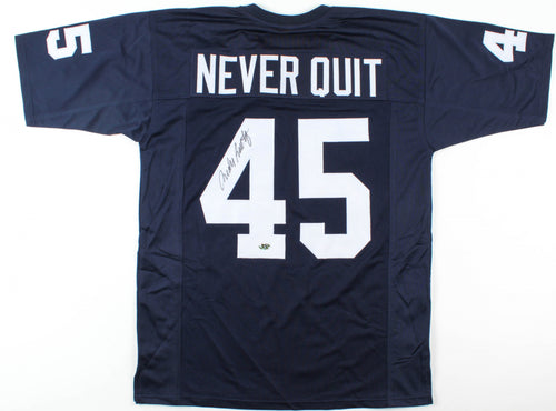 Rudy Ruettiger Notre Dame Fighting Irish Autographed Never Quit Jersey - Dynasty Sports & Framing