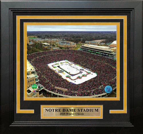 "2019 Winter Classic Notre Dame Stadium NHL Hockey 8"" x 10"" Framed and Matted Photo - Dynasty Sports & Framing"