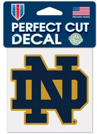 "Notre Dame Fighting Irish ND NCAA College 4"" x 4"" Decal"