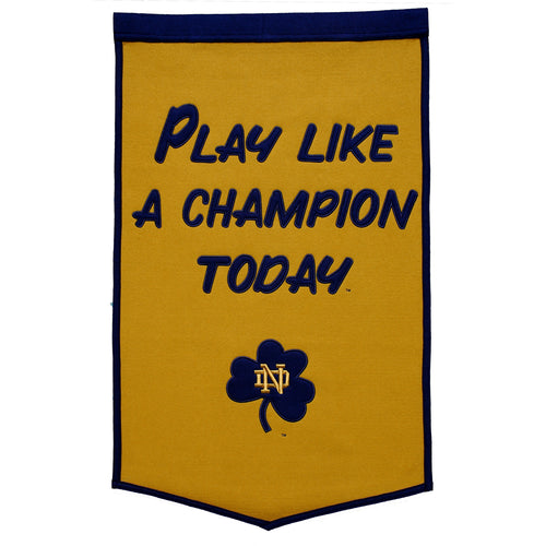 Notre Dame Fighting Irish Play Like a Champion Dynasty Banner - Dynasty Sports & Framing