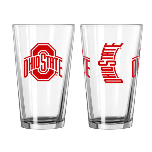 Ohio State Buckeyes NCAA 2-Piece Pint Glass Gift Set - Dynasty Sports & Framing