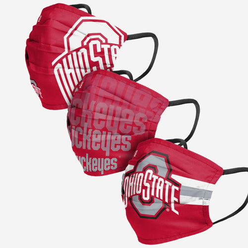 Ohio State Buckeyes 3-Pack Match Day Face Mask Covers - Dynasty Sports & Framing