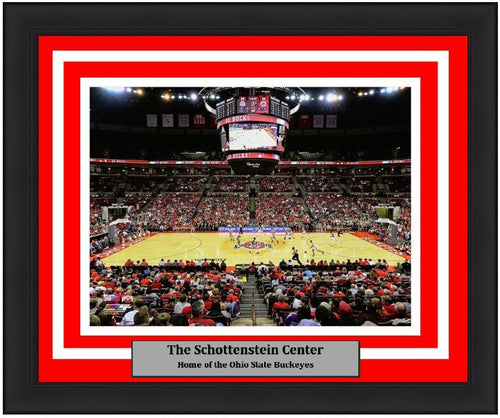 "Ohio State Buckeyes Schottenstein Center NCAA College Basketball 8"" x 10"" Framed and Matted Photo"