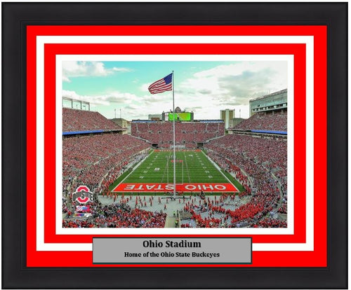 "Ohio State Buckeyes Ohio Stadium NCAA College Football 8"" x 10"" Framed and Matted Photo - Dynasty Sports & Framing"