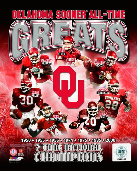 "Oklahoma Sooners All-Time Greats NCAA College Football 8"" x 10"" Photo - Dynasty Sports & Framing"