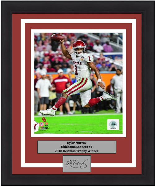 "Kyler Murray Oklahoma Sooners College Football 8"" x 10"" Framed and Matted Photo and Engraved Autograph"