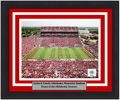"Oklahoma Sooners Gaylord Family Oklahoma Memorial Stadium NCAA College Football 8"" x 10"" Framed and Matted Photo"