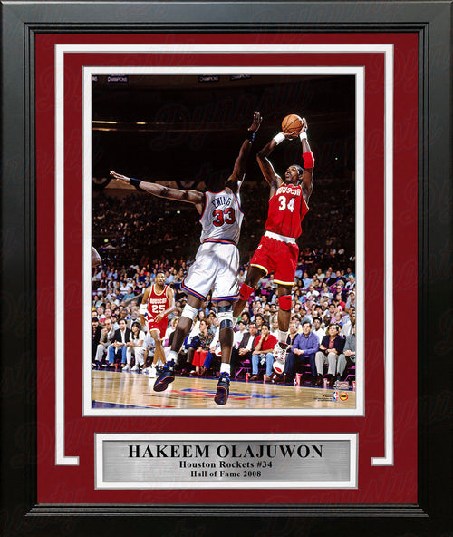 "Hakeem Olajuwon in Action Houston Rockets 8"" x 10"" Framed Basketball Photo - Dynasty Sports & Framing"