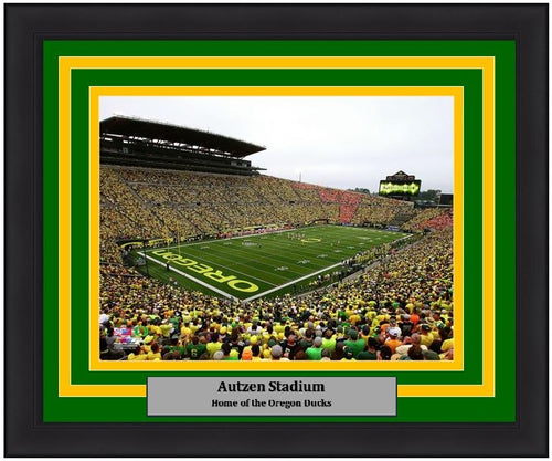 "Oregon Ducks Autzen Stadium NCAA College Football 8"" x 10"" Framed and Matted Photo - Dynasty Sports & Framing"