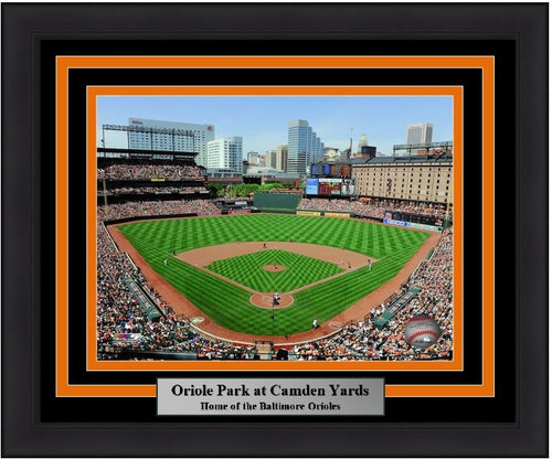 "Baltimore Orioles Oriole Park at Camden Yards Stadium MLB Baseball 8"" x 10"" Framed and Matted Photo - Dynasty Sports & Framing"