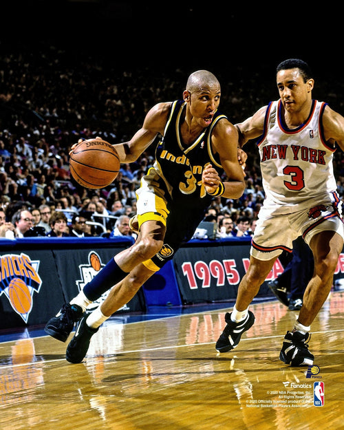 "Reggie Miller v. John Starks Indiana Pacers 8"" x 10"" Basketball Photo - Dynasty Sports & Framing"