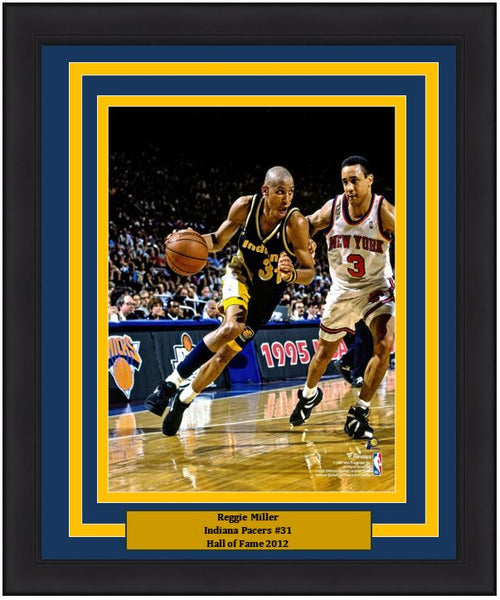 "Reggie Miller v. John Starks Indiana Pacers 8"" x 10"" Framed Basketball Photo - Dynasty Sports & Framing"