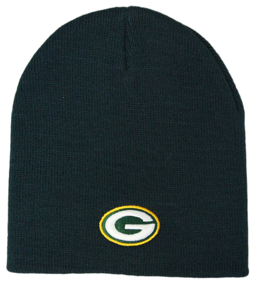 Green Bay Packers Logo Cuffless Knit Winter Hat - Dynasty Sports & Framing