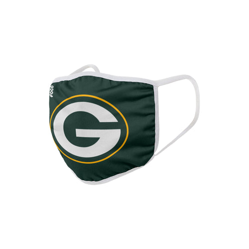 Green Bay Packers Solid Big Logo Face Cover Mask - Dynasty Sports & Framing