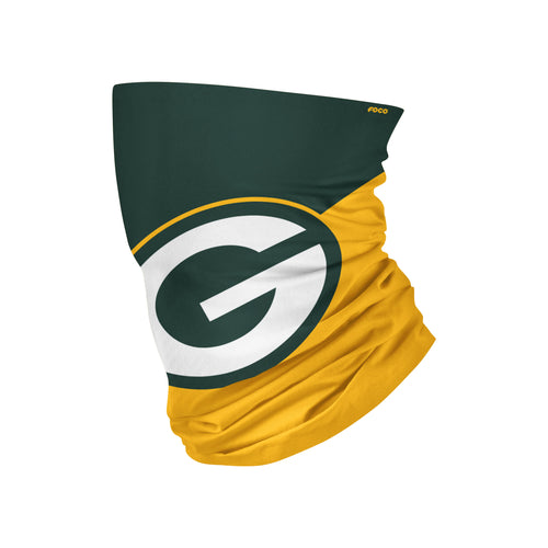 Green Bay Packers Colorblock Big Logo Gaiter Scarf - Dynasty Sports & Framing