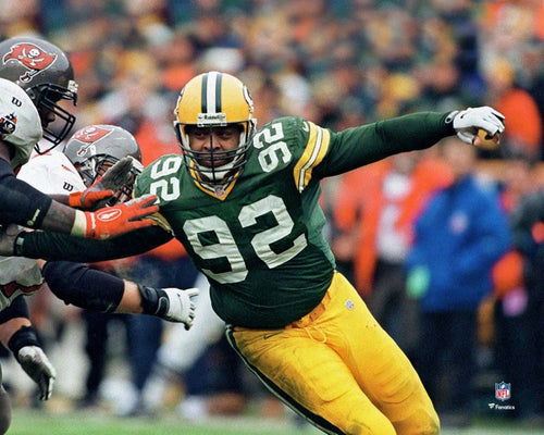 "Reggie White in Action Green Bay Packers 8"" x 10"" Football Photo - Dynasty Sports & Framing"