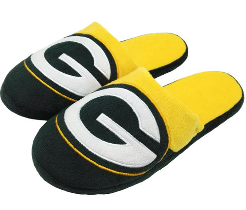 Green Bay Packers Colorblock Big Logo Slippers - Dynasty Sports & Framing