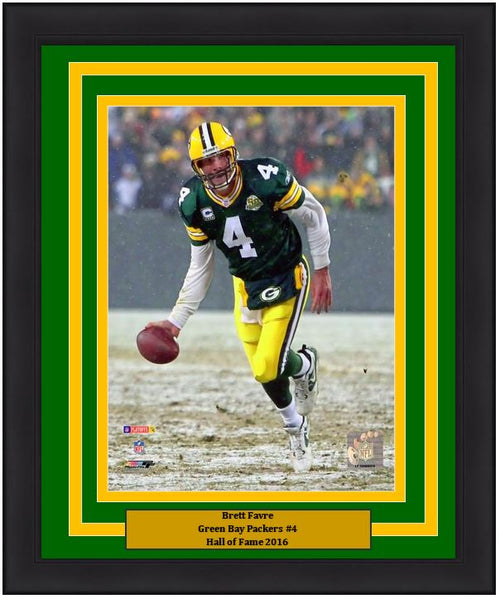 "Green Bay Packers Brett Favre NFL Football 8"" x 10"" Framed and Matted Photo"