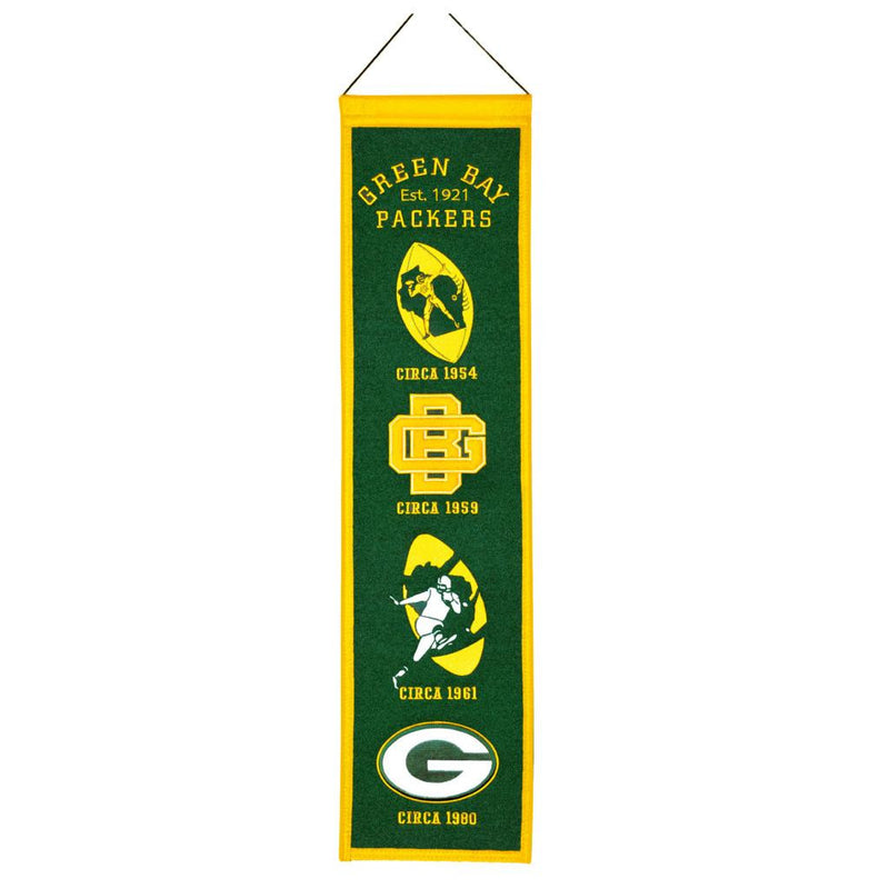 Green Bay Packers NFL Heritage Banner - Dynasty Sports & Framing