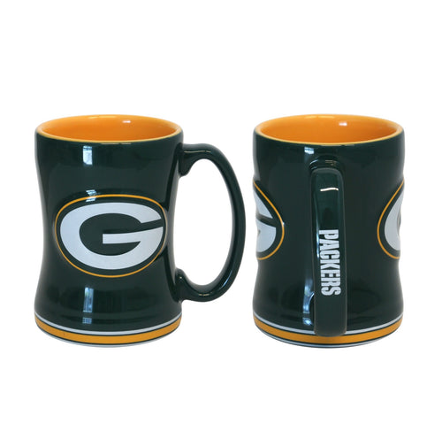 Green Bay Packers NFL Football Logo Relief 14 oz. Mug - Dynasty Sports & Framing