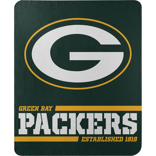 "Green Bay Packers NFL Football 50"" x 60"" Split Wide Fleece Blanket - Dynasty Sports & Framing"