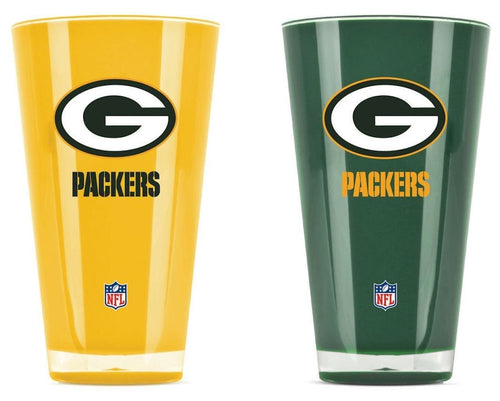 Green Bay Packers NFL Football 2-Pack Tumbler Cup Set