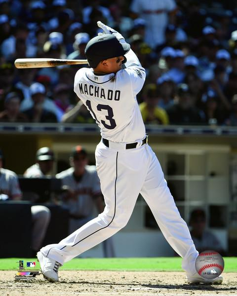 "Manny Machado San Diego Padres Swing MLB Baseball 8"" x 10"" Photo"